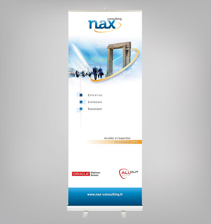Totem Nax Consulting avec enrouleur