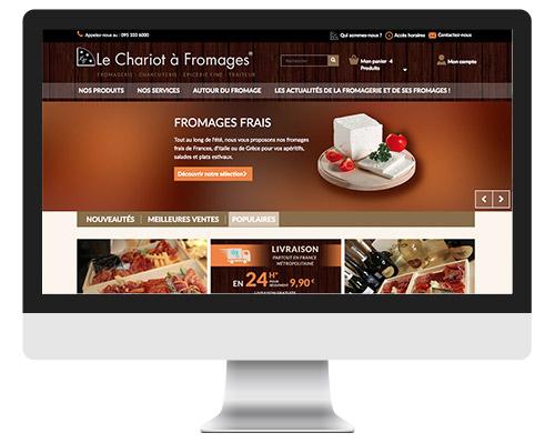 design de site de vente en ligne le chariot fromage. Black Bedroom Furniture Sets. Home Design Ideas