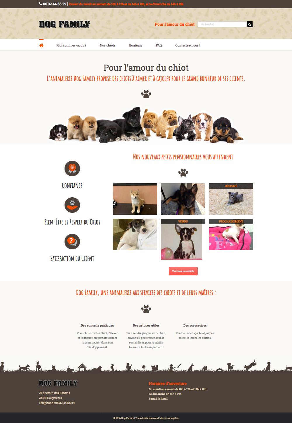 Dog Family animalerie Coignières
