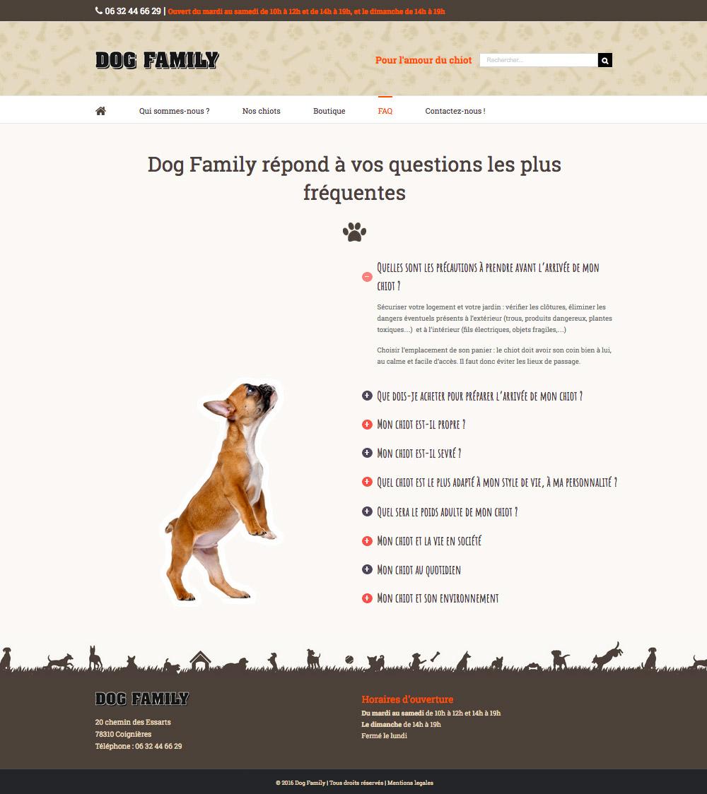 Site internet animalerie